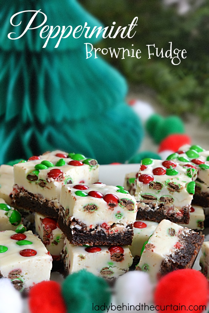 Peppermint Brownie Fudge | Let Pillsbury help you create your favorite holiday fudge!