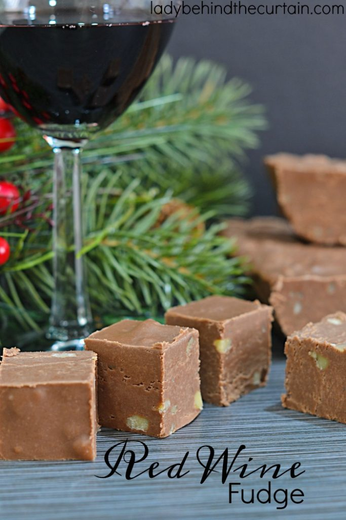 Red Wine Fudge   Add extra flavor to your fudge with wine! Just like when you add coffee to chocolate to intensify the flavor the same thing goes for red wine.