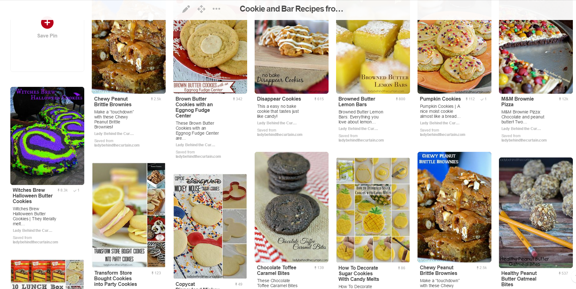 Cookie and Bar Recipes Board