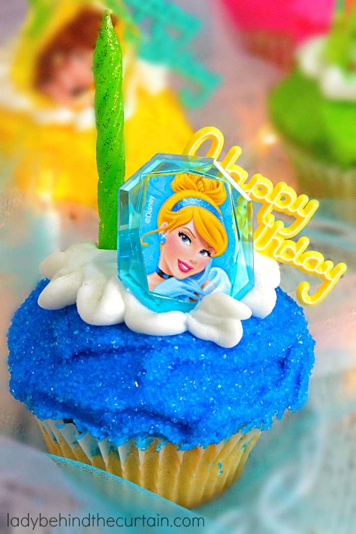 Princess Birthday Party Cupcakes