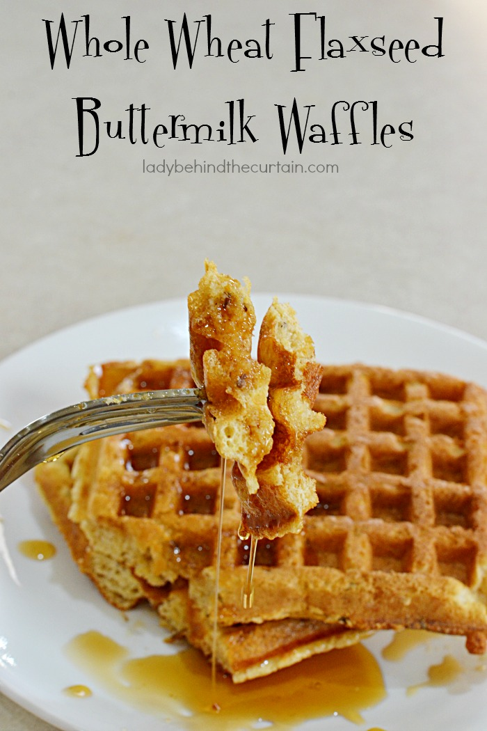 Whole Wheat Flaxseed Buttermilk Waffles   Start your day out right with these Whole Wheat Flaxseed Buttermilk Waffles.