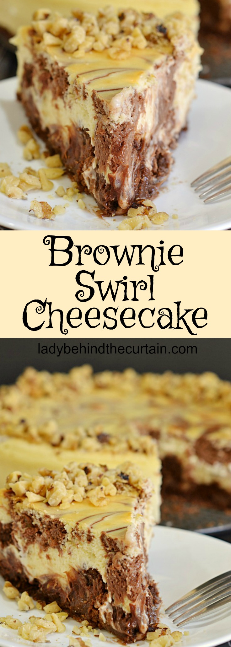 Brownie Swirl Cheesecake| chocolate desset, cheesecake, valentine's ...