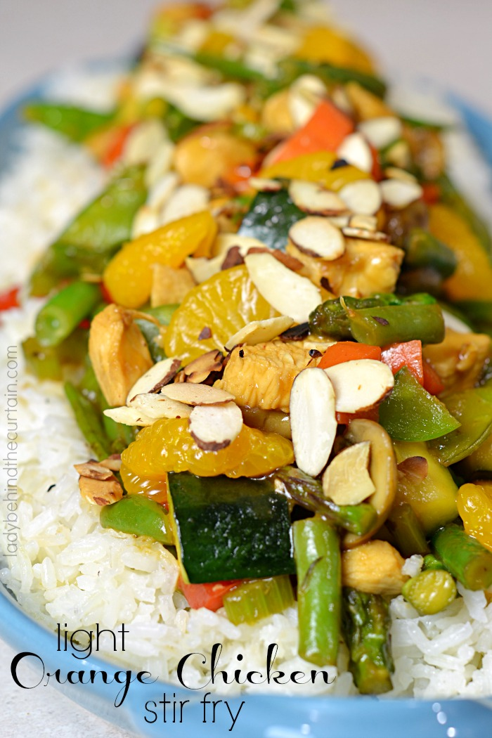 Light Orange Chicken Stir Fry   easy take out, chinese take out, light organe chicken recipe, take out at home