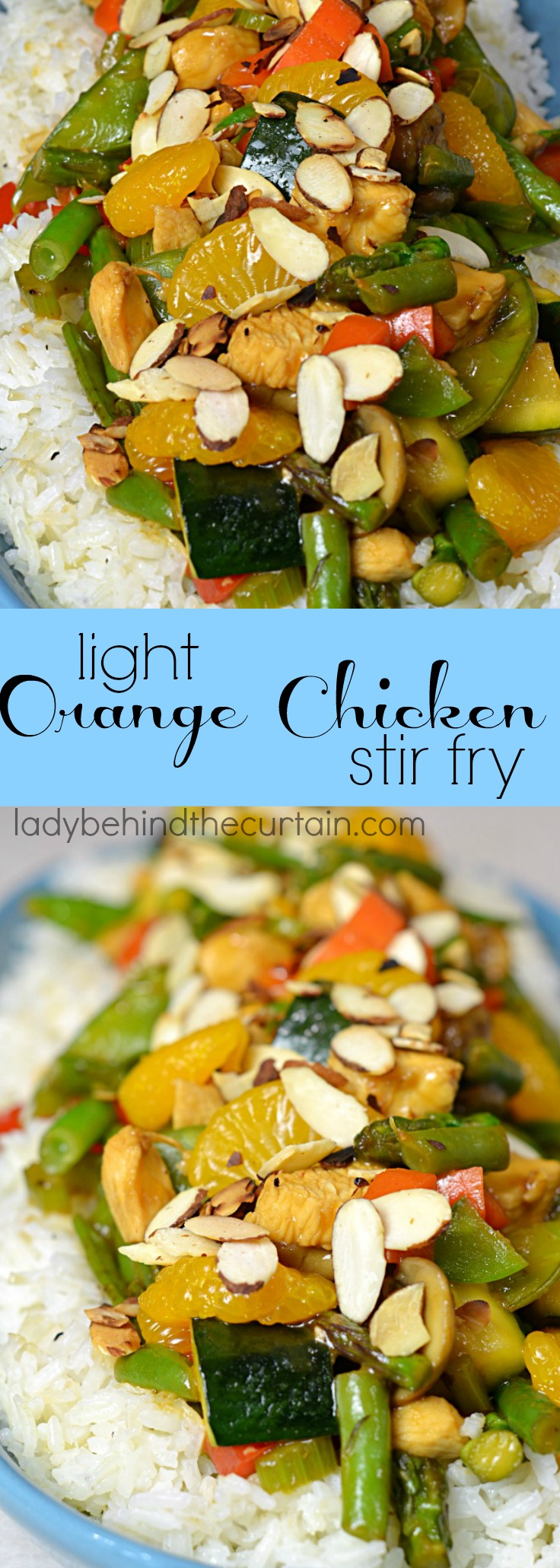 Light Orange Chicken Stir Fry | easy take out, chinese take out, light organe chicken recipe, take out at home