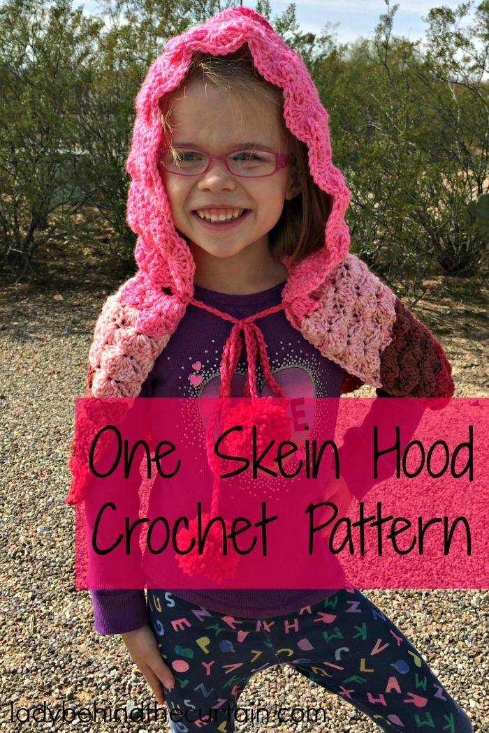 One Caron Cake Hood Crochet Pattern
