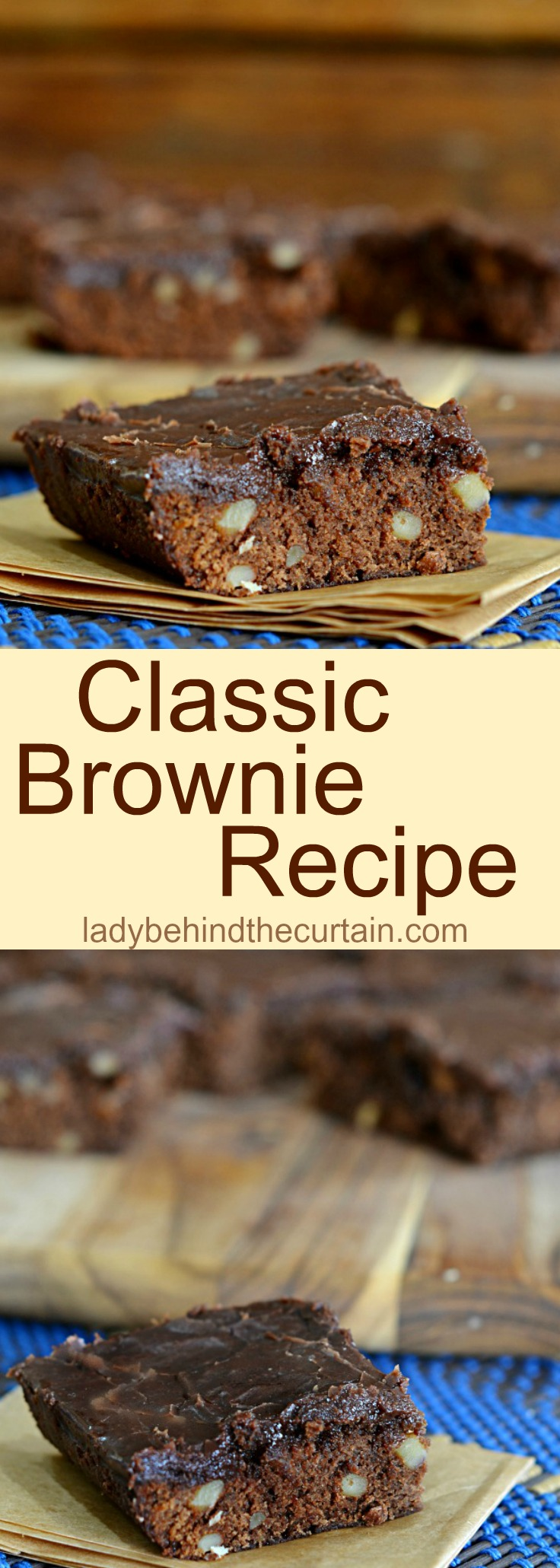 Classic Brownie Recipe| chocolate, easy brownie recipe, summer barbecue recipe, family reunion recipe, potluck recipe
