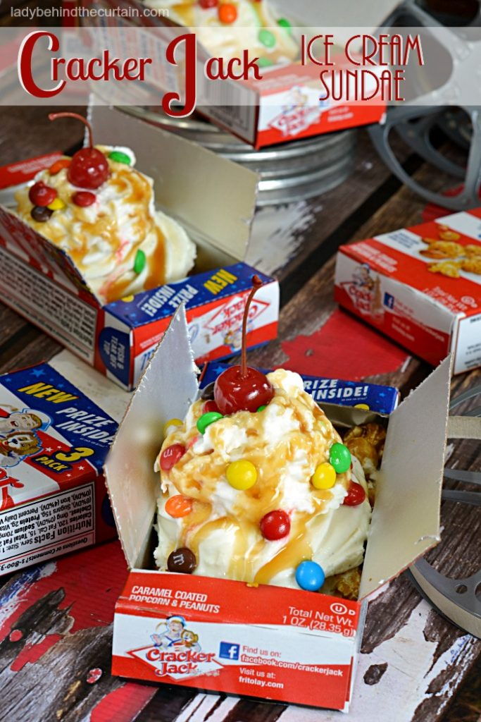 Cracker Jack Ice Cream Sundae | circus party, fair party, movie party, carnival party