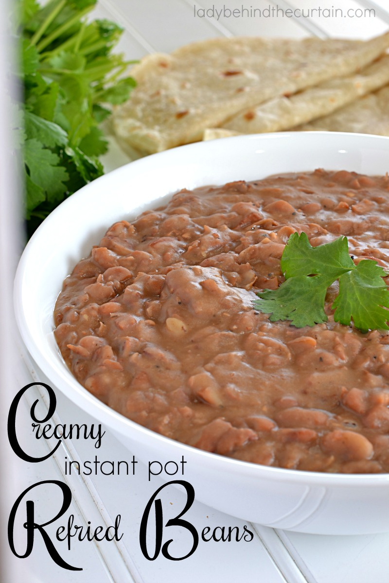 Creamy Instant Pot Refried Beans