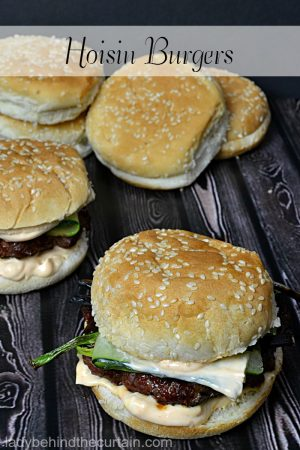 Hoisin Burgers | burger recipe, Chinese cuisine