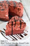 Instant Pot Red Velvet Rocky Road Cake | easy recipe, chocolate cake, birthday party cake, valentines day cake