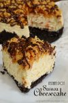 Instant Pot Samoa Cheesecake | Girl Scout Cookie Recipe, coconut dessert, easy cheesecake recipe, instant pot recipe