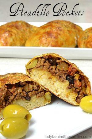 Picadillo Pockets | game day recipe, after school snack, on the go recipe, moroccan recipe