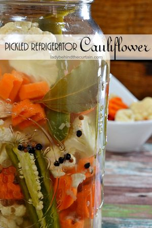 Pickled Refrigerator Cauliflower | rustic party favor, relish dish, salad, game day recipe