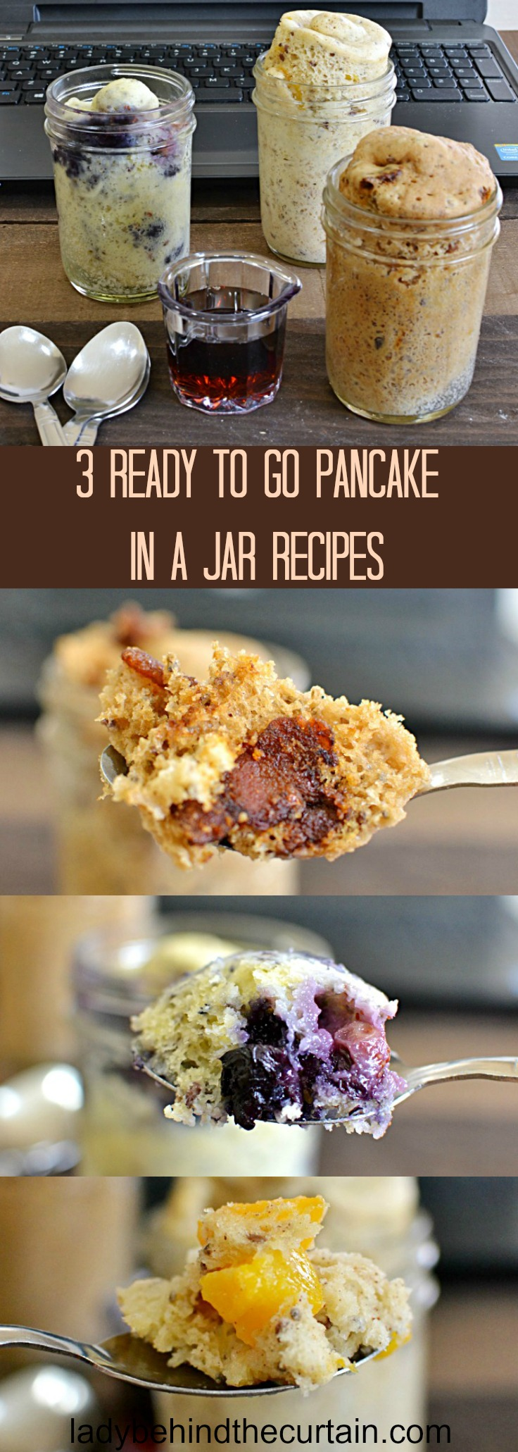 3 Ready To Go Pancake In A Jar Recipes | grab and go breakfast, easy breakfast recipe, easy pancake recipe, breakfast for dinner
