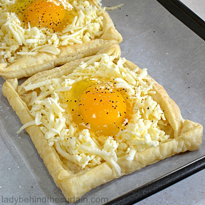 Bird in a Nest Tarts | Easter Brunch Recipe, Easy Brunch Recipe, Egg in a Hole
