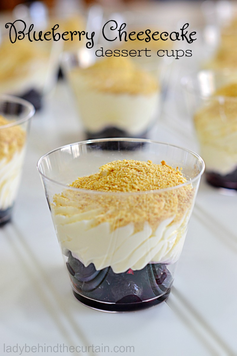 Blueberry Cheesecake Dessert Cups