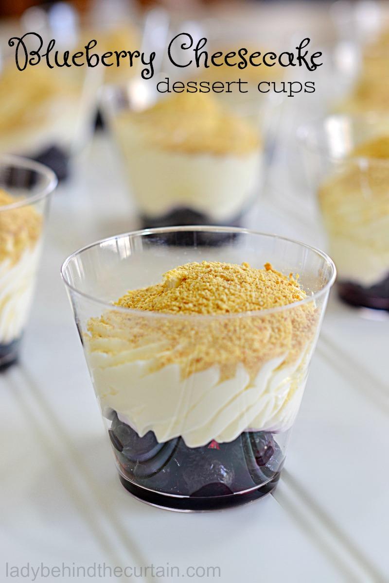 Blueberry Cheesecake Dessert Cups
