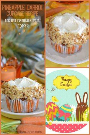 Pineapple Carrot Cupcakes | Easter Brunch Recipe, Carrot Cake Recipe, Easy Recipe, Cupcakes