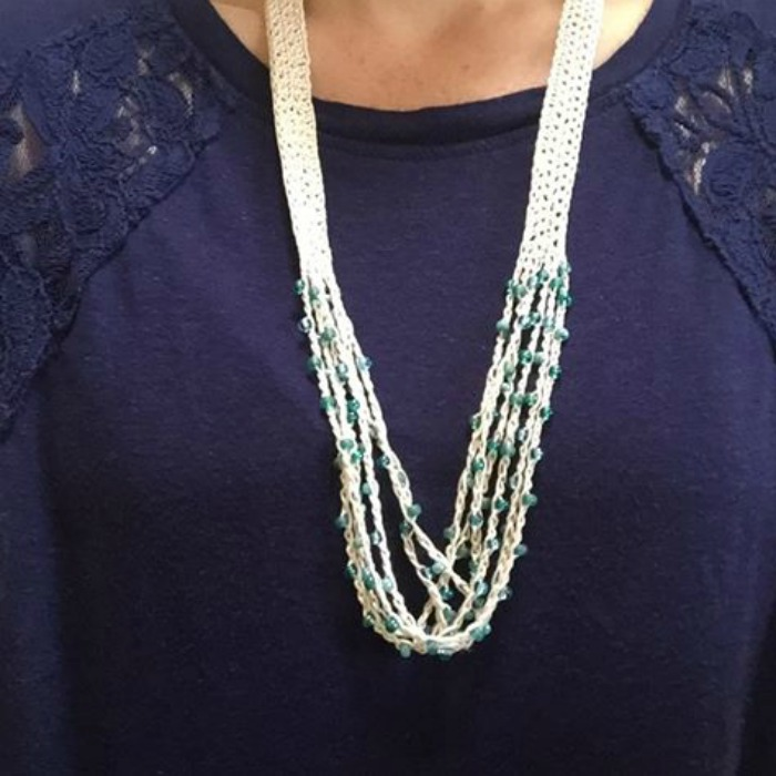 beaded necklace square