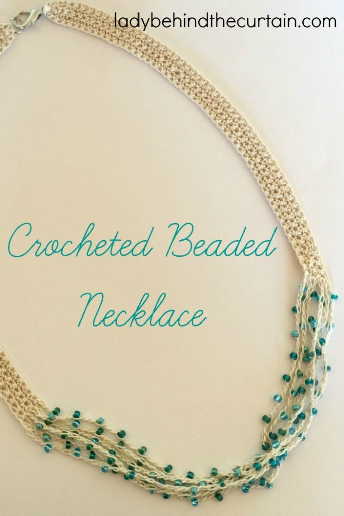 beaded necklace tall
