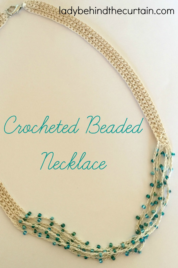Crocheted Beaded Necklace Pattern