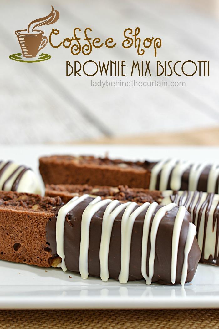 Coffee Shop Brownie Mix Biscott