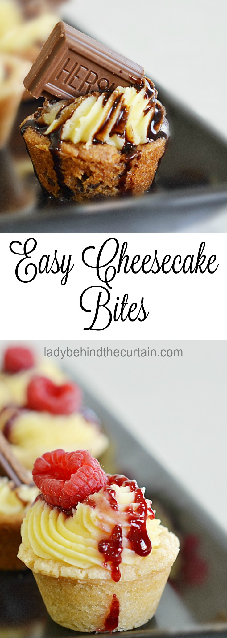 Easy Cheesecake Bites | semi homemade dessert, easy cheesecake dessert, easy recipe, easy entertaining recipe