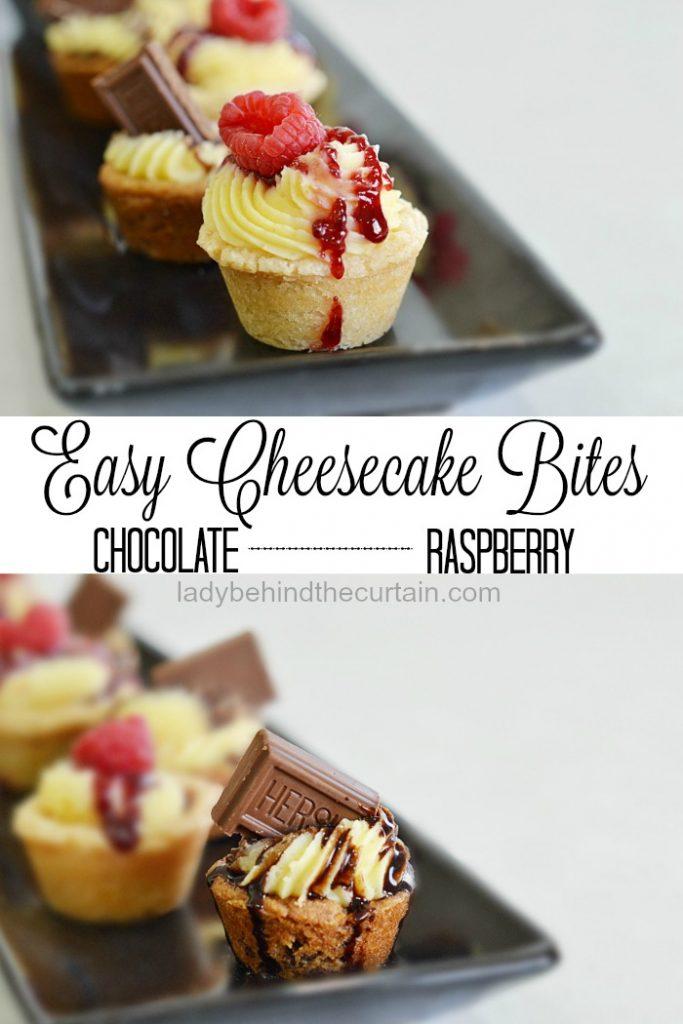 Easy Cheesecake Bites | semi homemade dessert, easy cheesecake dessert, easy recipe, easy entertaining recipe