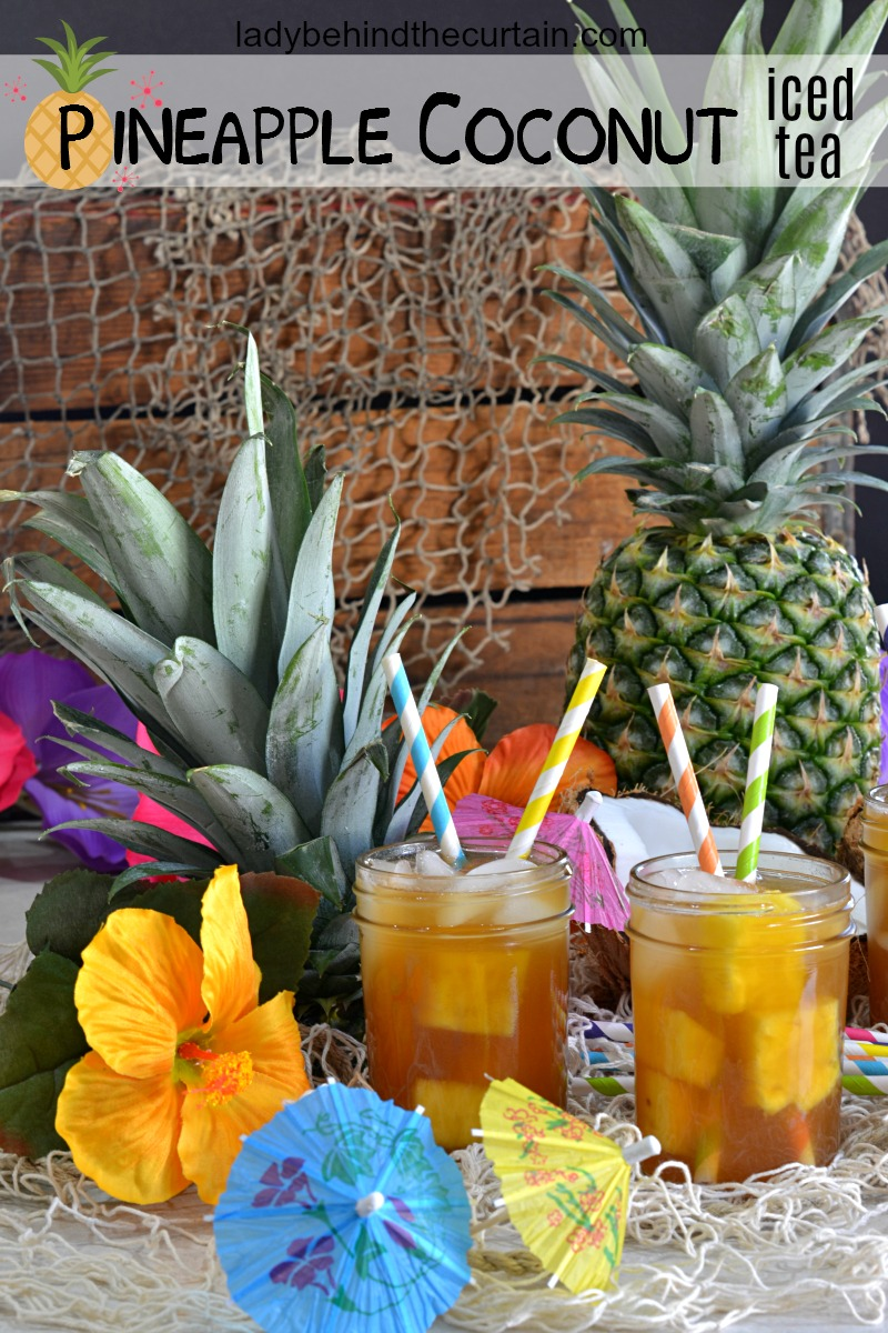 All Natural Pineapple Coconut Iced Tea
