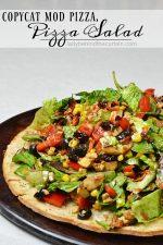 Copycat Mod Pizza, Pizza Salad