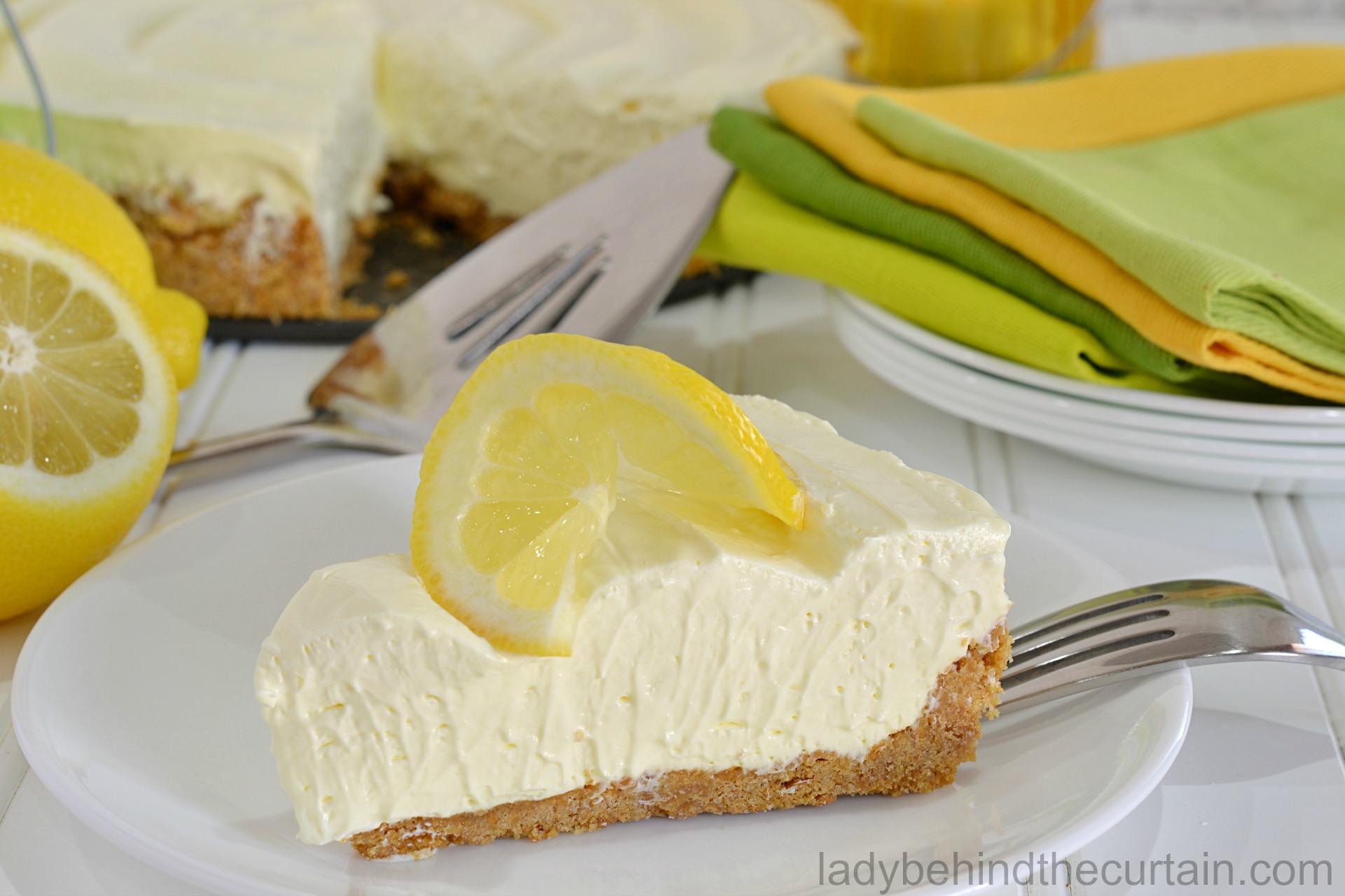 Lemonade Icebox Pie
