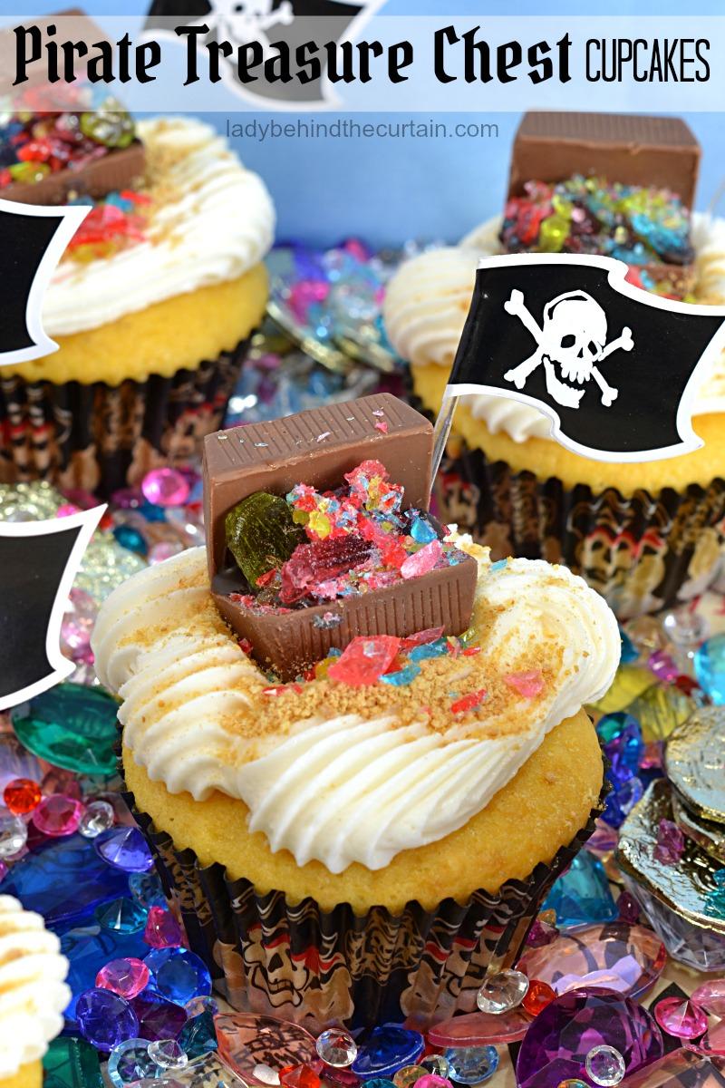 Pirate Treasure Chest Cupcakes