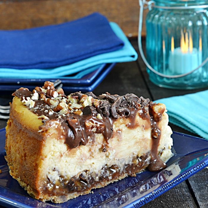 Upside Down Turtle Cheesecake