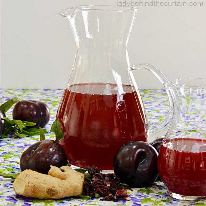 Hibiscus Plum Ginger Tea