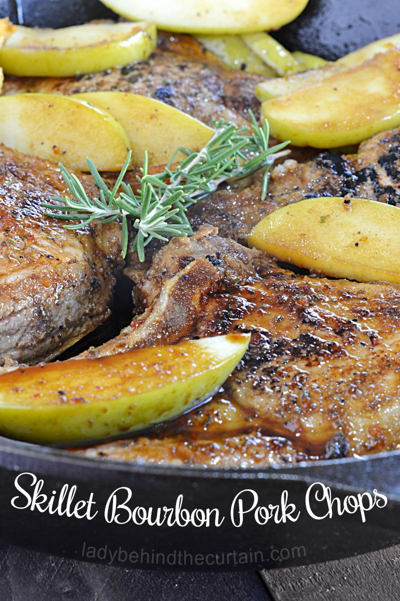 Skillet Bourbon Pork Chops