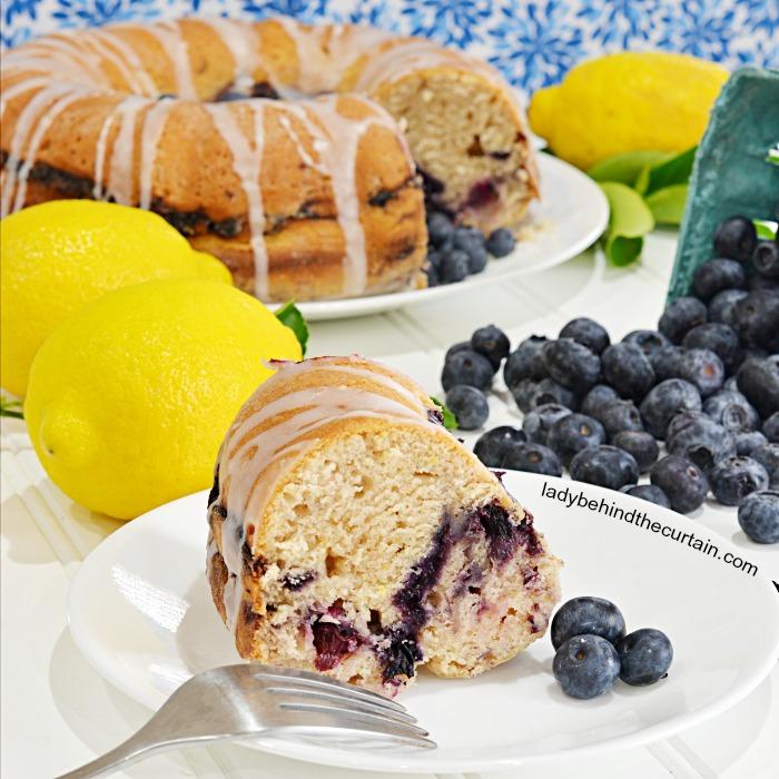 Blueberry Lemon Breakfast Cake