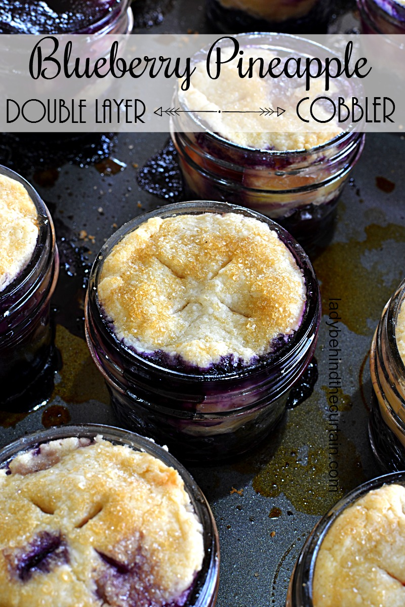 Double Layer Blueberry Pineapple Cobbler