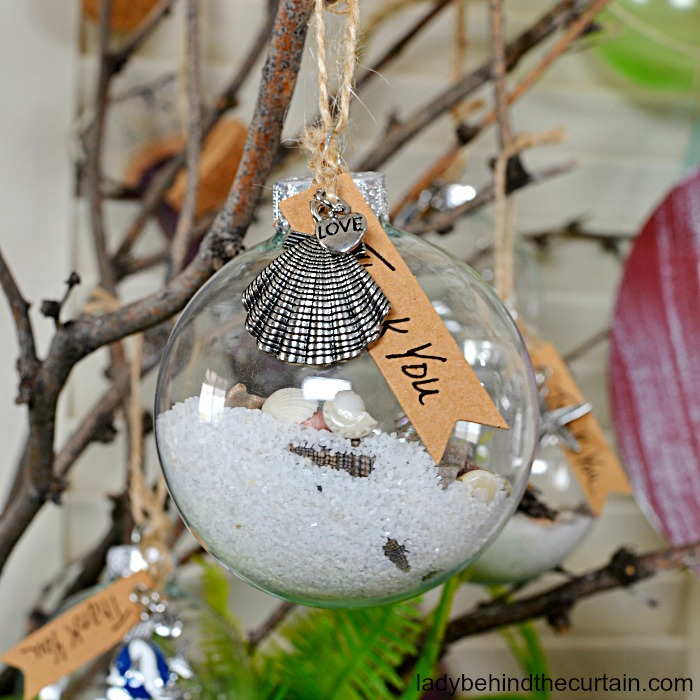 Sea Shore Christmas Ornament
