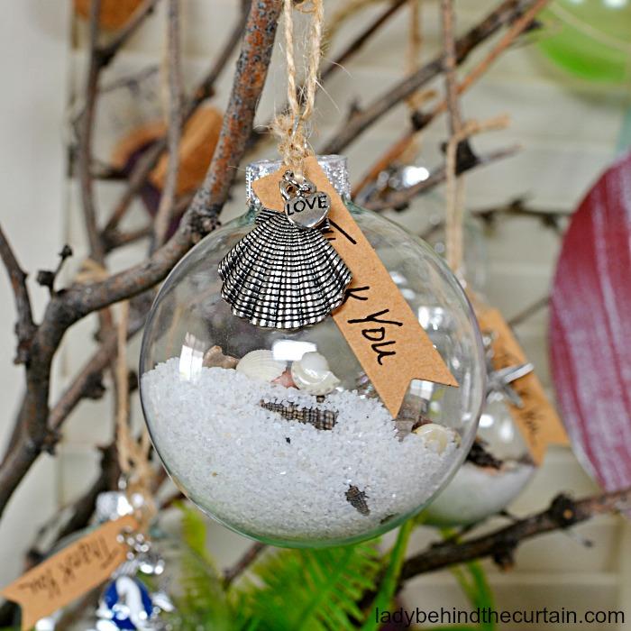 Sea Shore Christmas Ornament