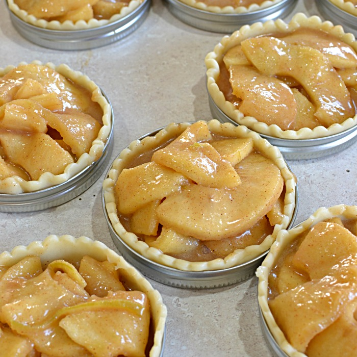 Mason Jar Lid Apple Pies
