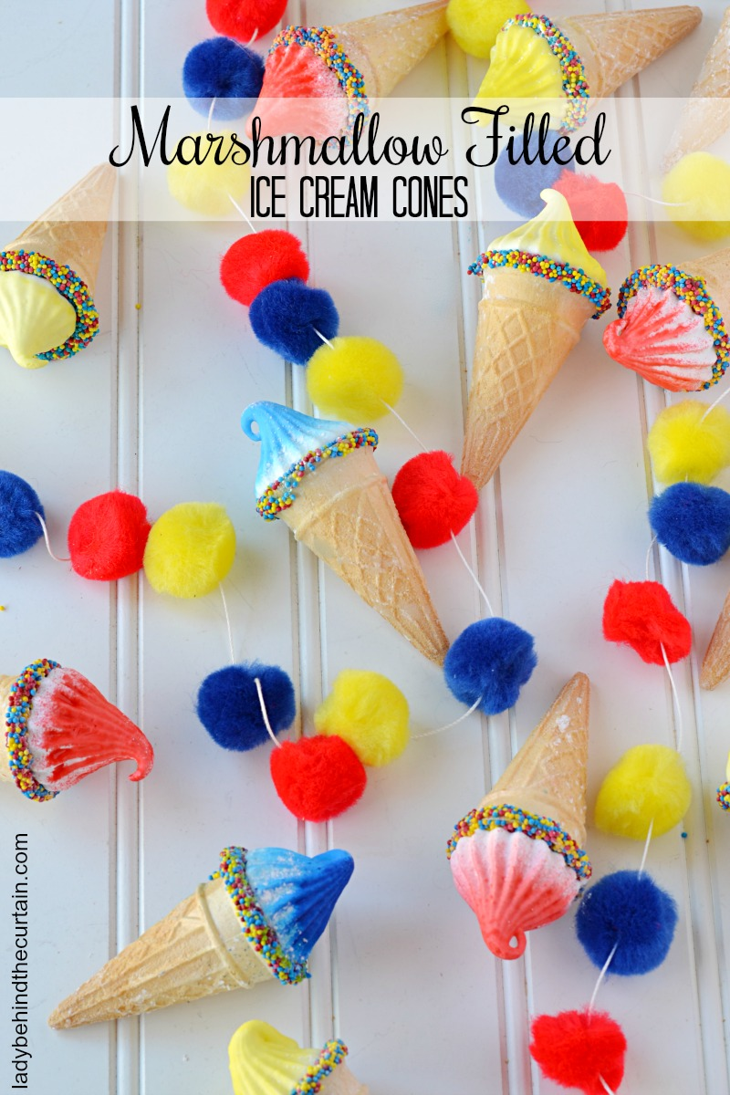 Old Fashioned Marshmallow Filled Ice Cream Cones