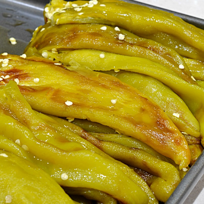 Roasted Fresh Hatch Chile Peppers