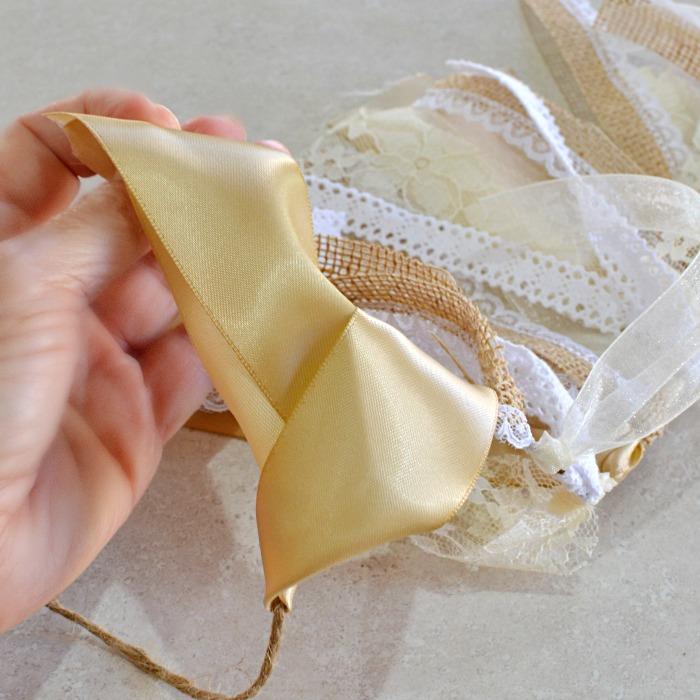 DIY Ribbon Garland