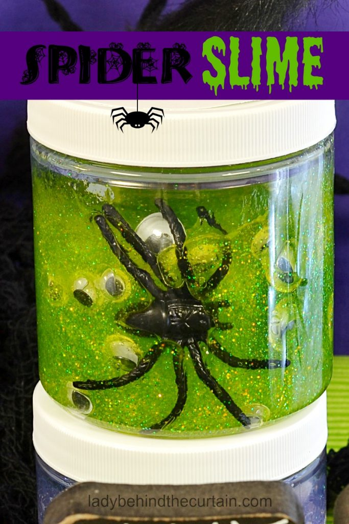 Halloween Spider Slime Party Favor