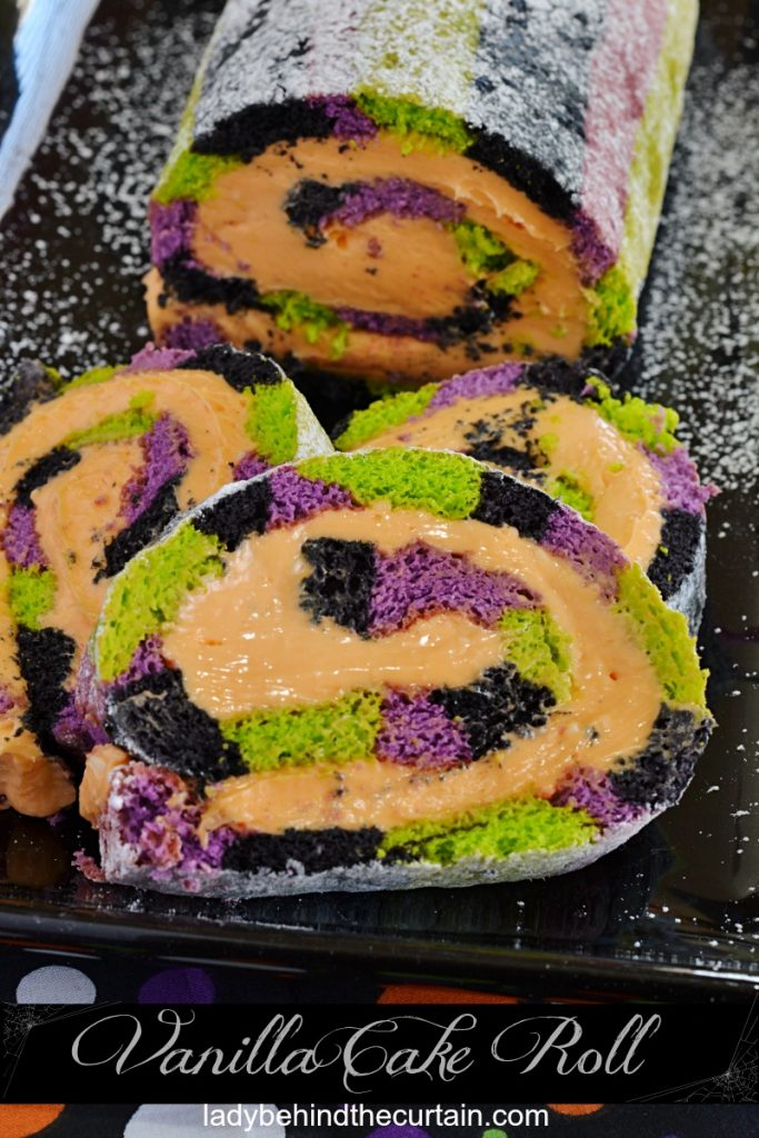 Halloween Vanilla Swiss Cake Roll