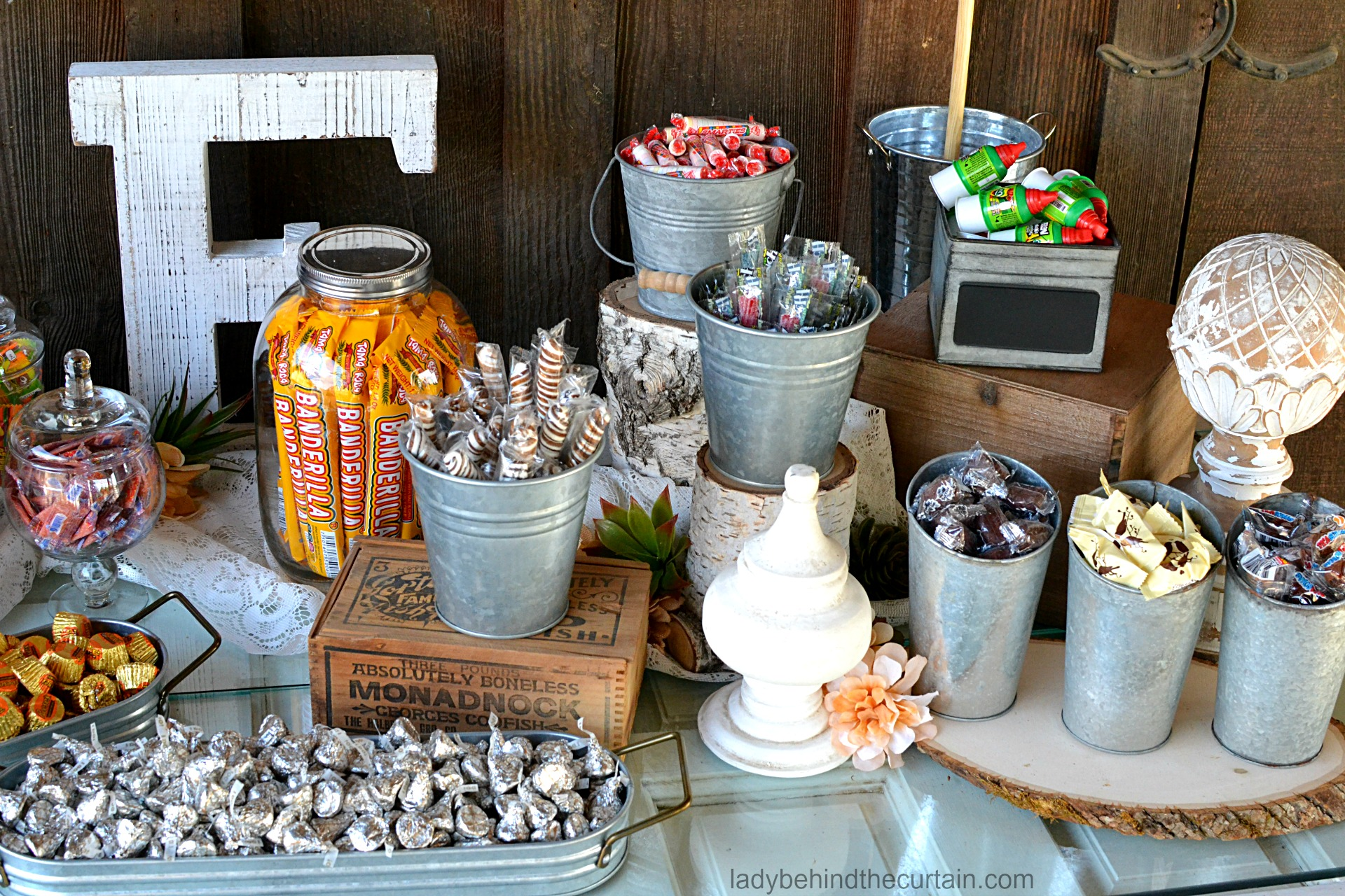 rustic wedding candy bars wwwpixsharkcom images