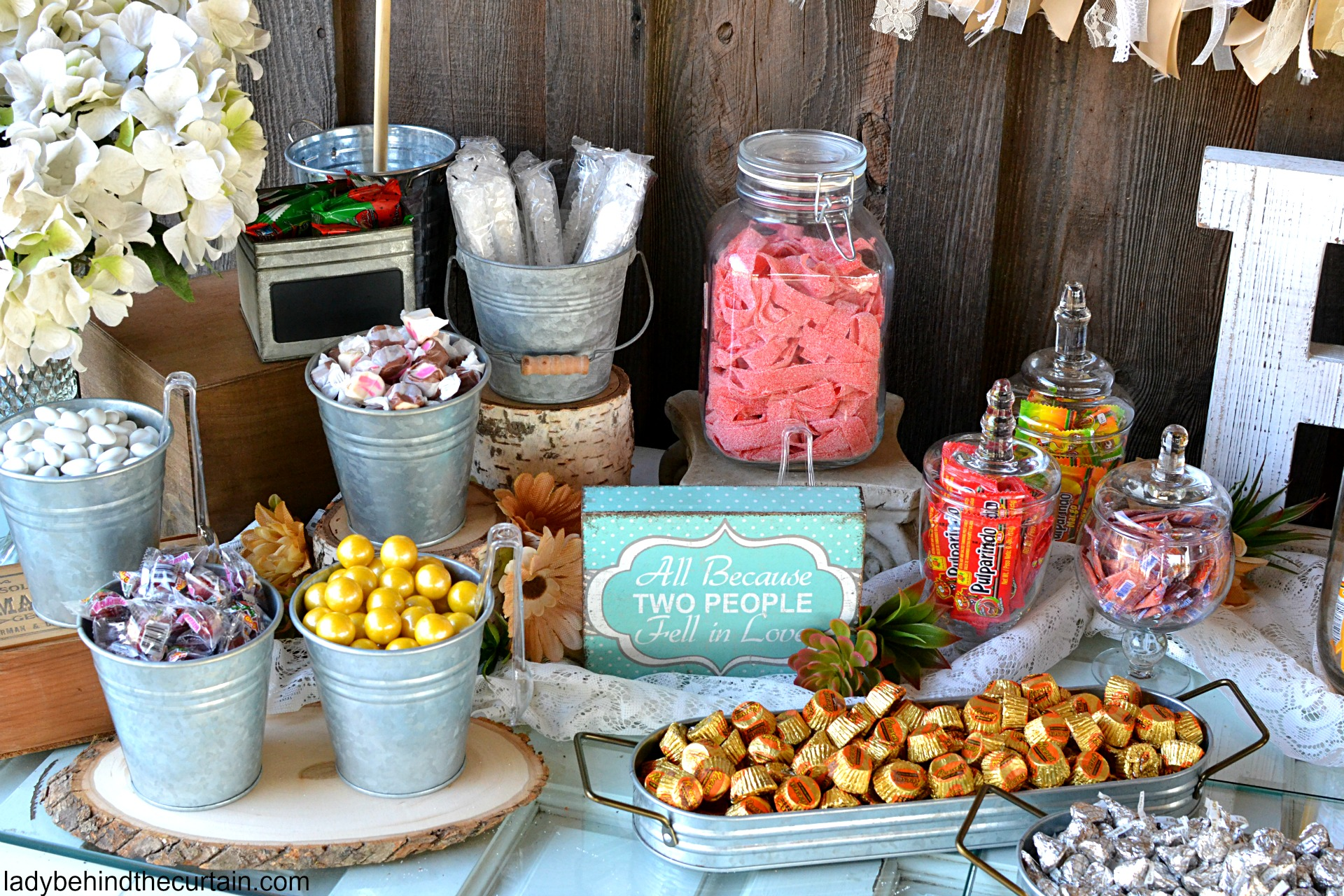rustic wedding candy buffet rh ladybehindthecurtain com cheap ideas for candy buffet cheap wedding candy buffet boxes