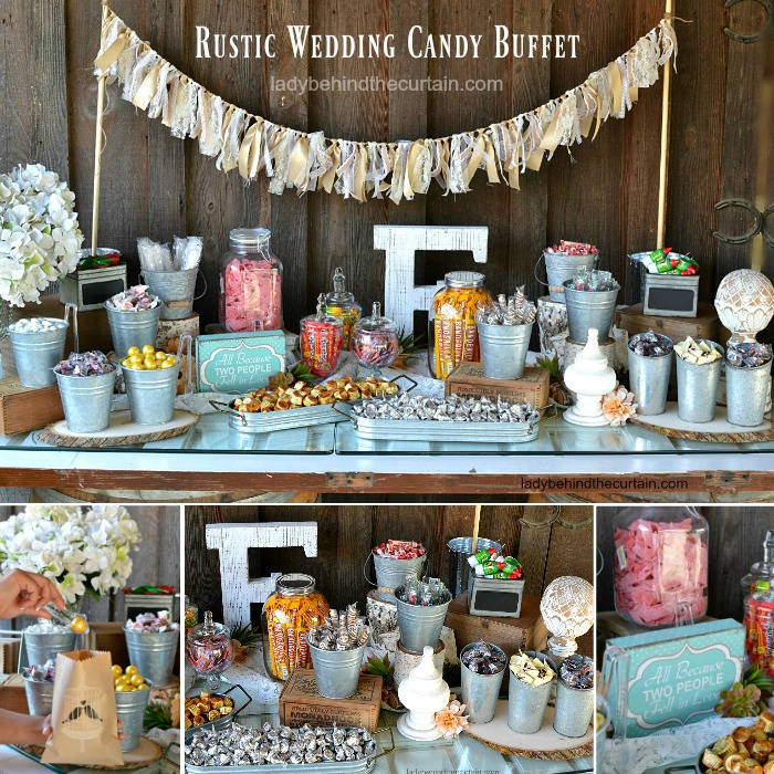 Candy Bar For Wedding Ideas: Rustic Wedding Candy Buffet