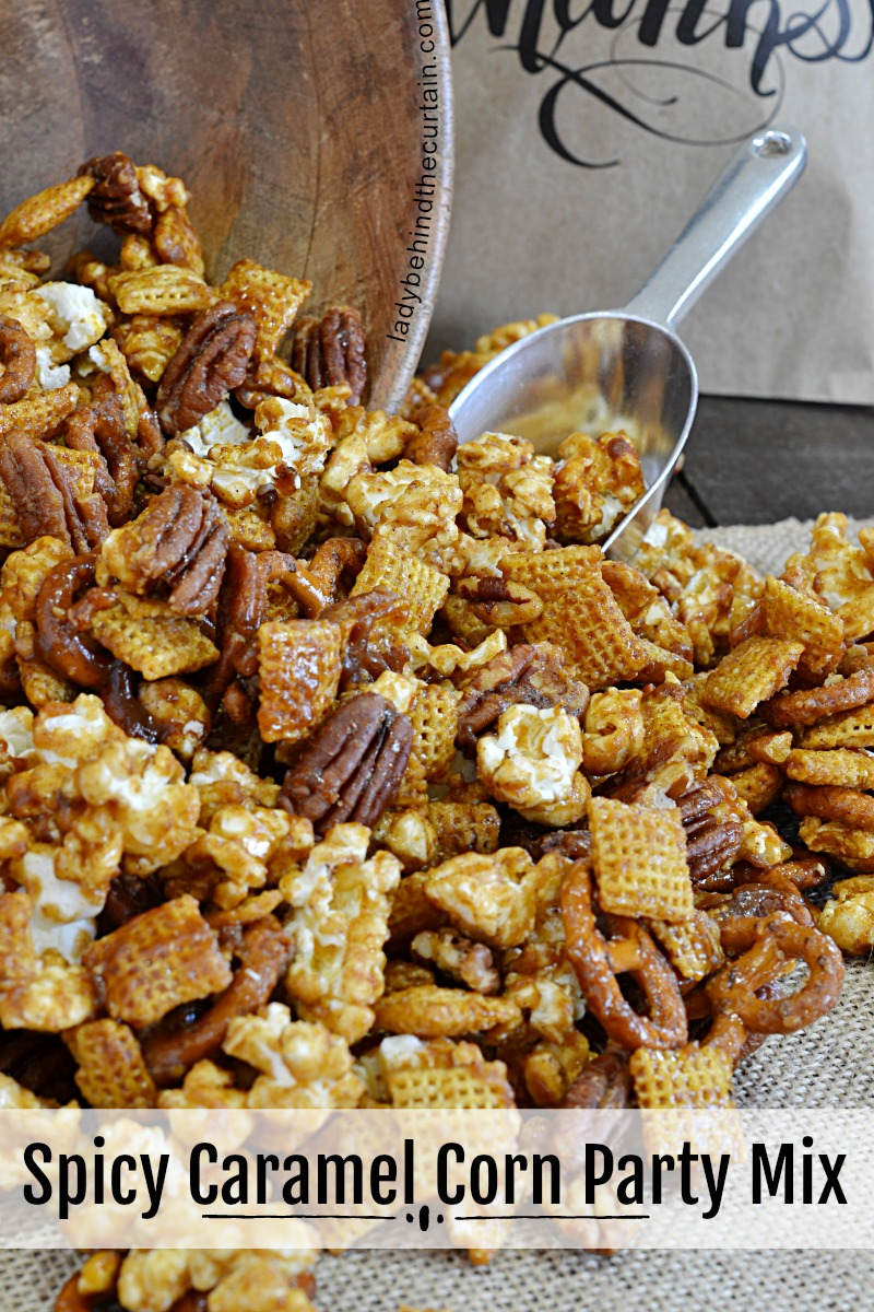 Spicy Caramel Corn Party Mix