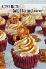 Brown Butter Salted Caramel Cupcakes